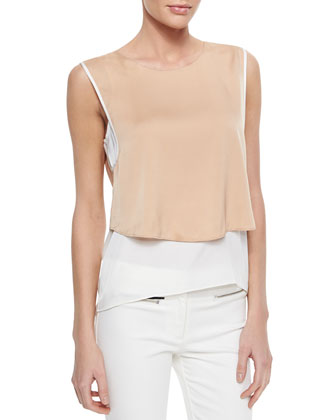 Layered Stretch-Silk Tank