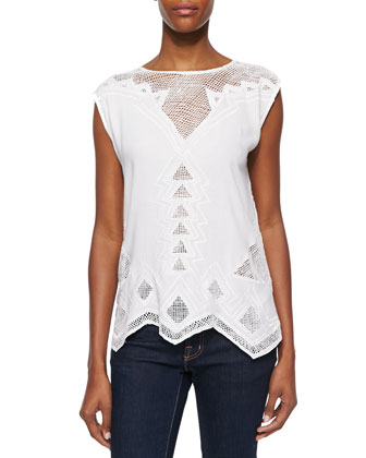 Paradise Netted Cotton Top