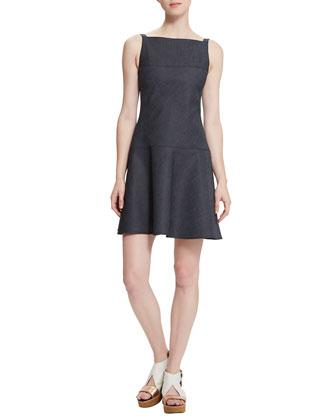 Skye Strappy Flounce Dress, Denim