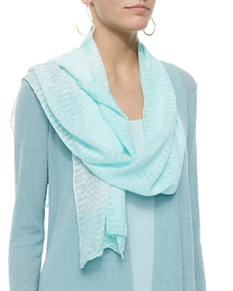 Long Angled Linen-Blend Cardigan, Ripples Scarf, Tunic & Washable-Crepe ...