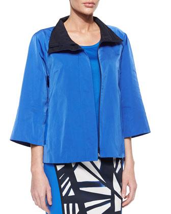 Zora 3/4-Sleeve Contrast Topper Jacket