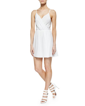 Renata Surplice Slip Dress