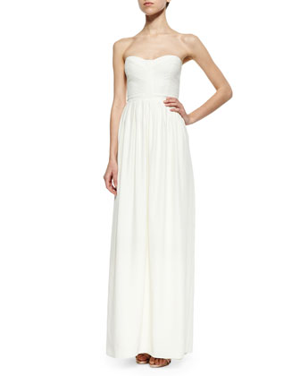 Venice Strapless Maxi Dress, Ivory
