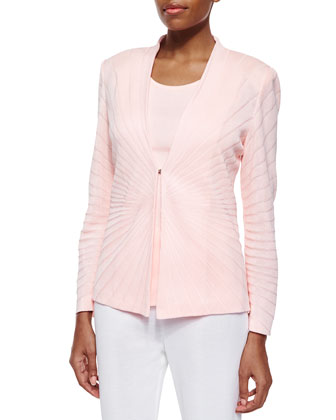 Sunburst Solid Jacket, Rosewater, Women's