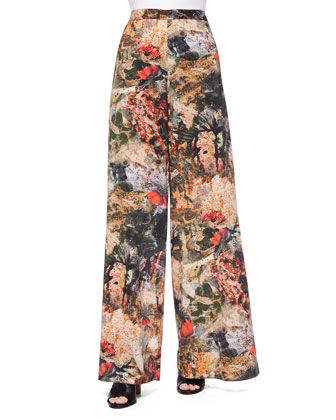 Printed Super-Flare Pants