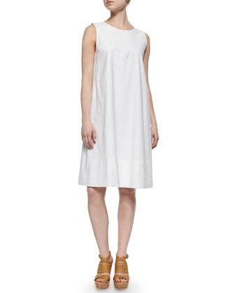 Damica Sleeveless Linen-Blend Dress