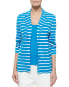 Striped Two-Button Jacket