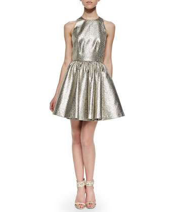 Tevin Shimmery Racerback Party Dress