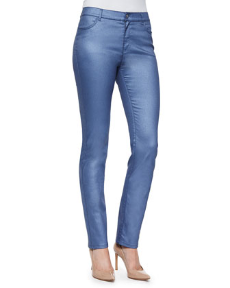 Coated Curvy Slim Leg Jeans