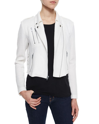 Dylan Lace-Up Moto Jacket