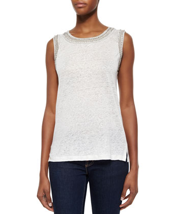 Bead-Trim Slub Top