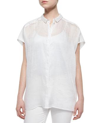 Liandra Gemma Kimono Short-Sleeve Top, V-Neck Jersey Tank Top & Curvy ...