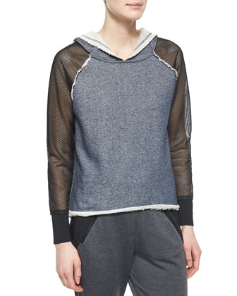 Emory Hooded Mesh-Sleeve Sweatshirt & Eve Colorblock Track Pants