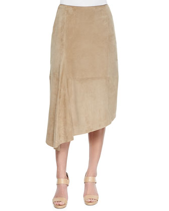 Chantee Suede Asymmetric Hem Skirt