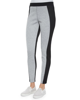 Irene Two-Tone Mesh-Panel Leggings