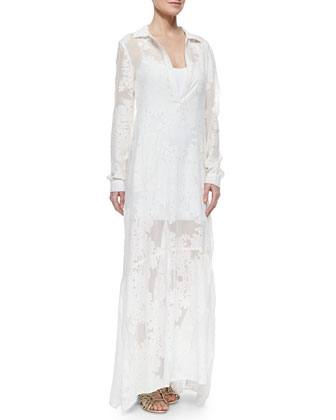 Breey Sheer Embroidered Maxi Dress