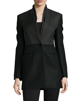 One-Button Wool Jacket