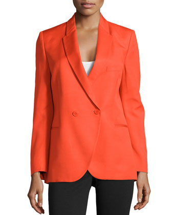 Double-Breasted Blazer, Orange