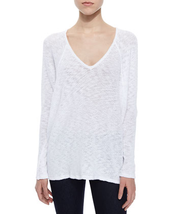 V-Neck Long-Sleeve Sweater