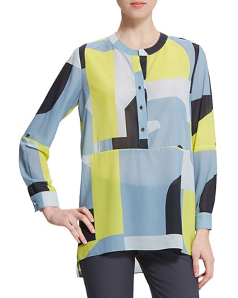 Large-Print Tunic Blouse, Rubiks