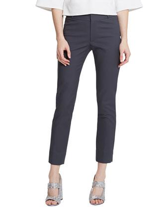Large-Print Tunic Blouse & Super Skinny-Leg Pants