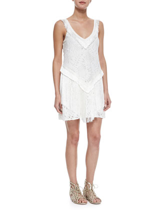 Austin Lace Fringe Dress