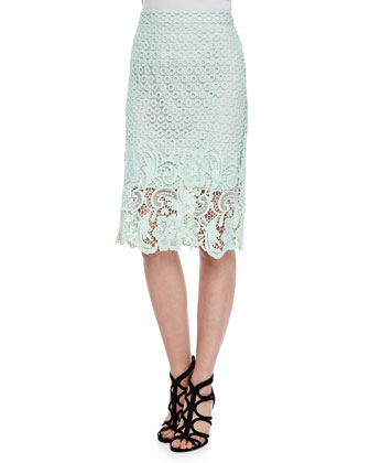 Armor Lace Pencil Skirt