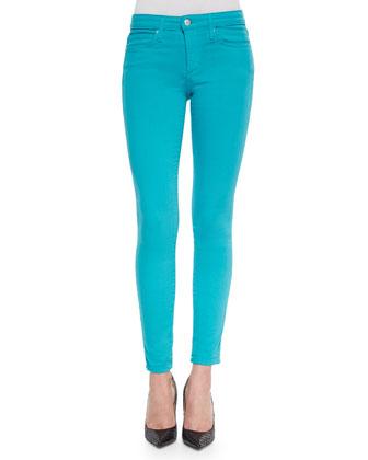 Mid-Rise Skinny Jeans, Scuba Blue
