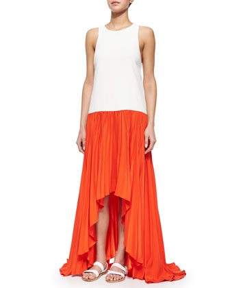 Lauri Colorblock Pleated Maxi Dress