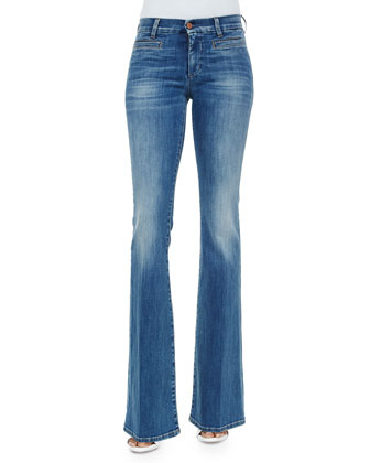 The Marrakech Faded Flared Jeans