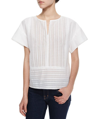 The Broderie Short-Sleeve Top