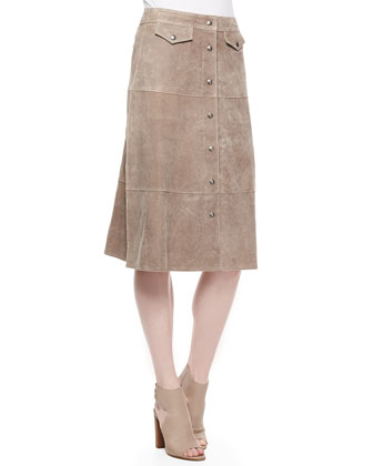 The Suede Skirt, Tan