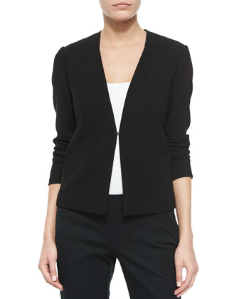 Kaya Mesh-Neck Wool Jacket