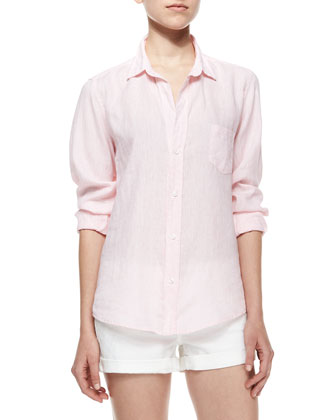 Barry Long-Sleeve Blouse, Pink