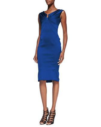 Sleeveless Split V-Neck Dress