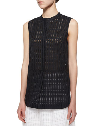 Sheer Textured Woven Tunic