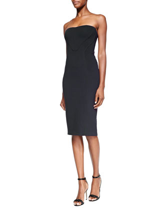 Strapless Bonded-Seam Sheath Dress