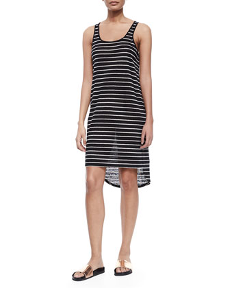 Striped Linen Tank Dress