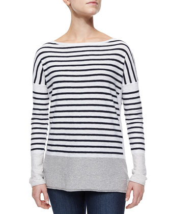 Striped/Colorblock Cotton Top