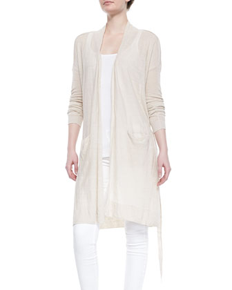 Lightweight Knit Long Belted Cardigan, Ribbed Favorite Tank & Dylan Skinny ...