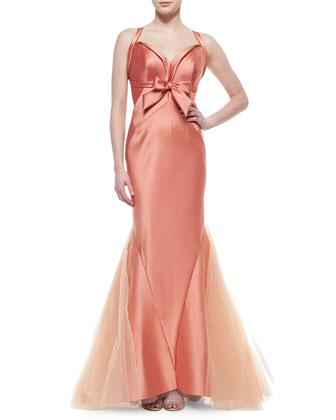 Halter-Neck Tulle-Skirt Gown