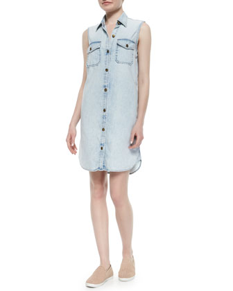 The Sleeveless Perfect Shirtdress, Cloudy Sky