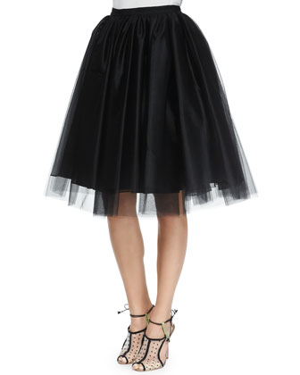 Justina Tulle Skirt, Black