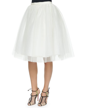 Justina Tulle Skirt, Ivory