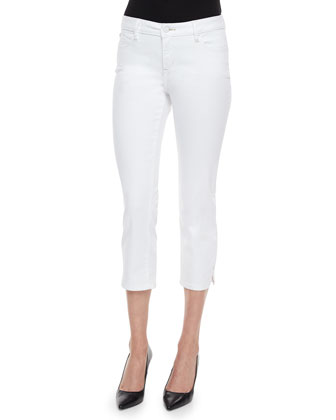 Jane Cropped Jeans, White