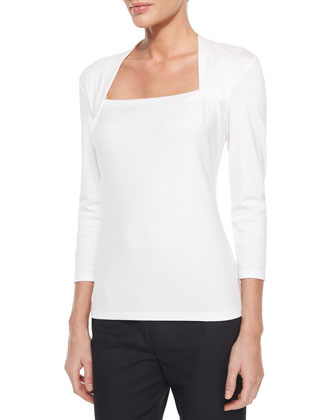 Giada 3/4-Sleeve Top & Bleecker Cropped Ankle Pants