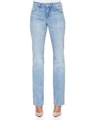 Marilyn Straight-Leg Jeans, Light Denim