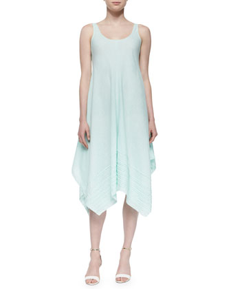 Organic Linen Scoop-Neck Tank Dress, Aurora