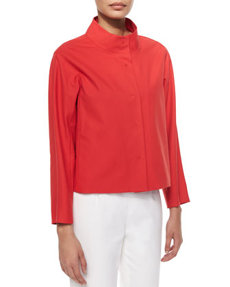 Olson Snap-Front Topper Jacket, Red