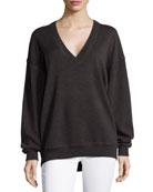 V-Neck Merino Wool Sweatshirt